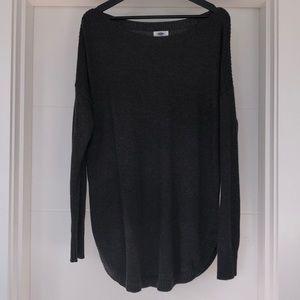Old Navy boatneck sweater w/ curved hem